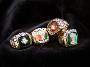 Andrew Clary University of Miami Championship Rings