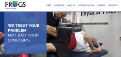 Screen shot of FROGS PT New Website